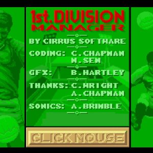 1st Division Manager retro game