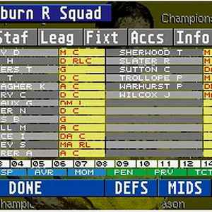Championship Manager retro game