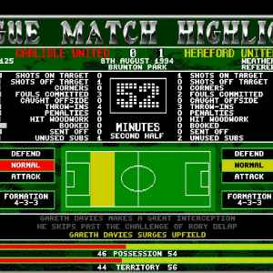 Top of the League retro game